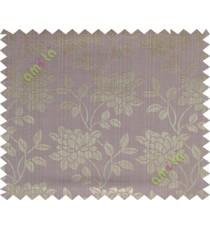Brown purple grey beautiful floral leaf design poly main curtain designs