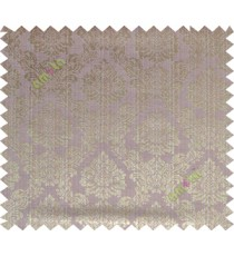 Brown purple grey traditional damask design poly main curtain designs