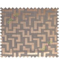 Copper brown black color elegant contemporary design poly main curtain designs