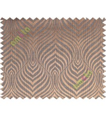 Copper brown black color beautiful seamless retro design poly main curtain designs