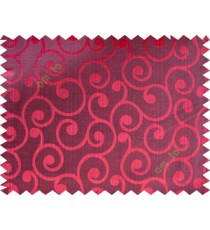 Black maroon color traditional seamless swirl design poly main curtain designs