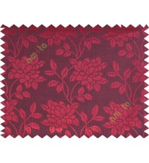 Black maroon gold red beautiful floral leaf design poly main curtain designs