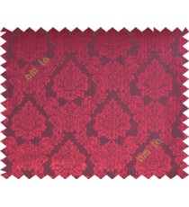 Black maroon traditional damask design poly main curtain designs