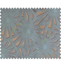 Abstract star sparkle running wheel network 3d design brown copper on dark grey base main curtain