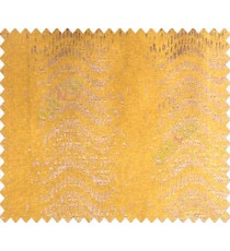 Abstract vertical line waves with rain drops brown copper on mustard yellow base main curtain