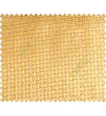 Traditional bamboo basket weaving design 3d design brown copper on mustard yellow base main curtain