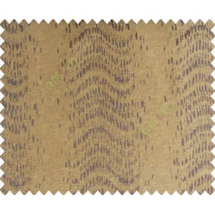 Abstract vertical line waves with rain drops chocolate brown black on brown yellow base main curtain