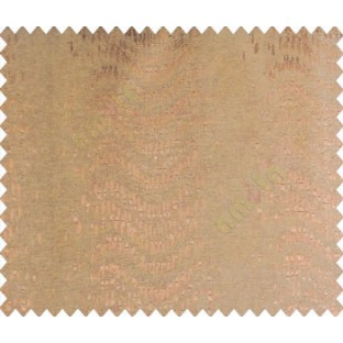 Abstract vertical line waves with rain drops brown copper on brown base main curtain