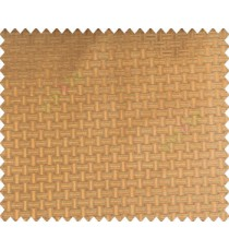 Traditional bamboo basket weaving design 3d design brown copper on brown base main curtain