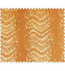 Abstract vertical line waves with rain drops yellow gold on dark brown gold base main curtain