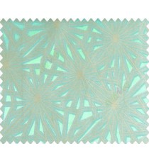 Abstract star sparkle running wheel network 3d design turquoise blue on grey base main curtain
