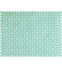 Traditional bamboo basket weaving design 3d design turquoise blue on grey base main curtain