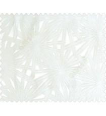 Abstract star sparkle running wheel network 3d design cream half white on white base main curtain