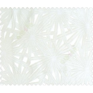 Abstract star sparkle running wheel network 3d design cream half white on white base main curtain
