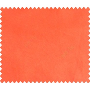 Saffron orange solid canvas look polyester main curtain