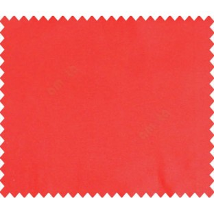 Red solid canvas look polyester main curtain