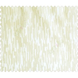 Abstract rain drops contemporary puzzle design texture cream half white main curtain
