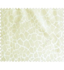 Abstract honey comb leopard skin contemporary crack texture cream half white main curtain