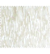 Abstract rain drops contemporary puzzle design texture beige cream main curtain