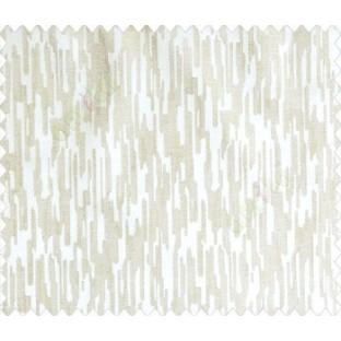 Abstract rain drops contemporary puzzle design texture beige cream main curtain