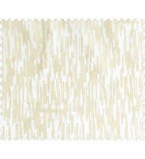 Abstract rain drops contemporary puzzle design texture peach beige main curtain