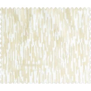 Abstract rain drops contemporary puzzle design texture peach beige main curtain