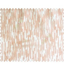 Abstract rain drops contemporary puzzle design texture pink beige main curtain
