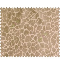 Abstract honey comb leopard skin contemporary crack texture dark chocolate brown main curtain