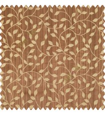 Dark brown beige black color floral texture designs vertical pencil stripes background small leaves elegant look polyester main curtain