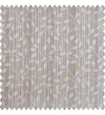 Light purple beige grey color floral texture designs vertical pencil stripes background small leaves elegant look polyester main curtain