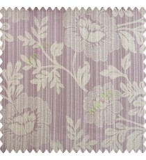 Light purple beige grey color beautiful floral designs big designs vertical background pencil stripes texture and shiny finished combination polyester main curtain