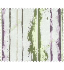 Abstract vertical stripes vertical lines purple gold brown green on beige base texture polyester main curtain