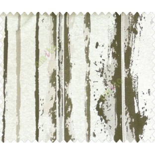 Abstract vertical stripes vertical lines dark brown grey on beige base texture polyester main curtain