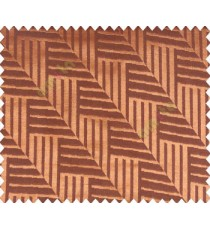 Abstract geometric step server stack staircase slant design copper on brown base main curtain