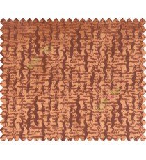 Abstract ikat tribal snake rain drop crop texture design copper on brown base main curtain
