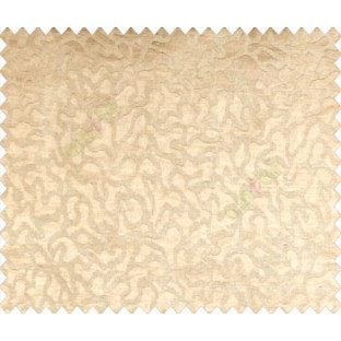 Abstract microbe choco flakes rounded geometric pattern beige on light brown  base main curtain