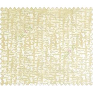 Abstract ikat tribal snake rain drop crop texture design cream on peach base main curtain