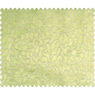 Abstract microbe choco flakes rounded geometric pattern lime green on grey base main curtain