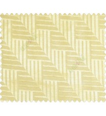 Abstract geometric step server stack staircase slant design gold on yellow base main curtain
