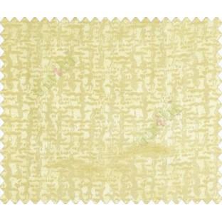Abstract ikat tribal snake rain drop crop texture design gold on yellow base main curtain