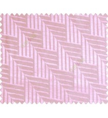 Abstract geometric step server stack staircase slant design baby pink on grey base main curtain