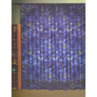 Kids blue white air force poly main curtain designs