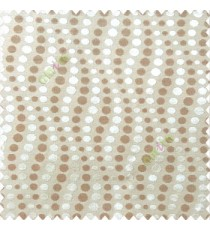 Brown cream color geometric circles texture finished polka-dots horizontal background stipes polyester main curtain
