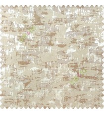Brown cream color solid texture concrete design water splashes drop horizontal background stripes polyester main curtain