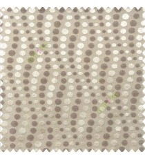Brown beige color geometric circles texture finished polka-dots horizontal background stipes polyester main curtain