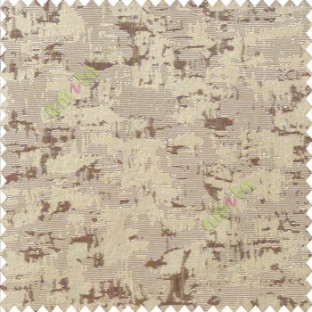 Dark brown beige color solid texture concrete design water splashes drop horizontal background stripes polyester main curtain