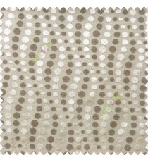 Dark brown with light brown color geometric circles texture finished polka-dots horizontal background stipes polyester main curtain