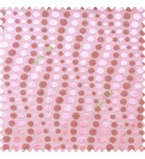 Pink purple color geometric circles texture finished polka-dots horizontal background stipes polyester main curtain