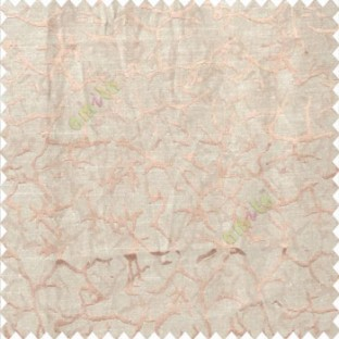 Beige brown color traditional texture finished branches scratch lines polyester main curtain