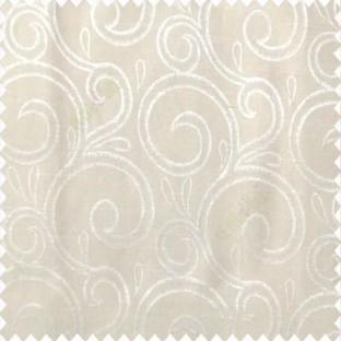 Beige color swirls pattern traditional rainwater drop fish semi circles design polyester main curtain